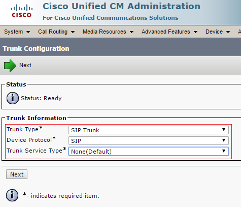 Configuration guide for Cisco Call Manager 10, 11 and 11 5