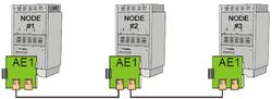 AE1 - AlphaCom Digital Network Board - Node -2 in transit configuration, nodes -1 and -3 in leaf configuration.jpg