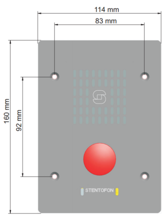 IP Substation Dimensions - Front view