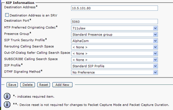 Configuration guide for Cisco Call Manager 6 - Zenitel Wiki
