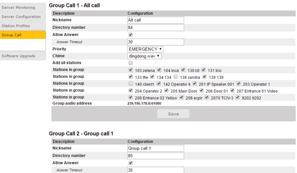 Group Call (Pulse) - Zenitel Wiki
