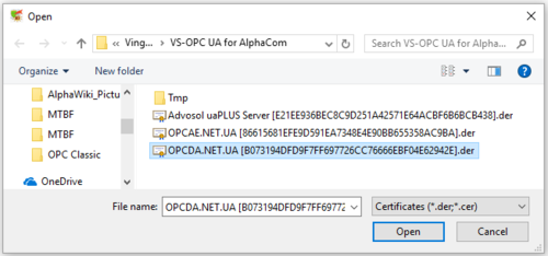 OPC UA for AlphaCom - Installation - Zenitel Wiki