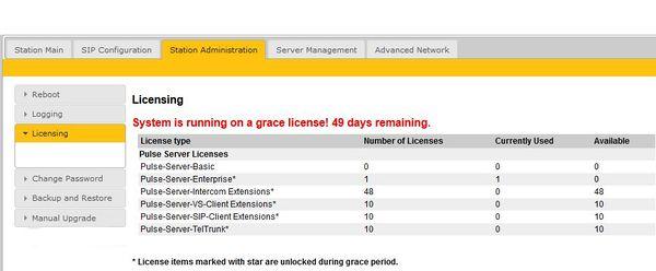 Pulse Licensing - Zenitel Wiki