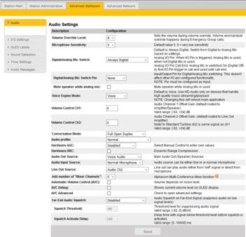 Turbine Configuration - AlphaCom mode - Zenitel Wiki