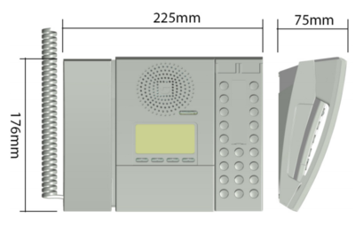 IP Desktop Master with Handset - Dimensions